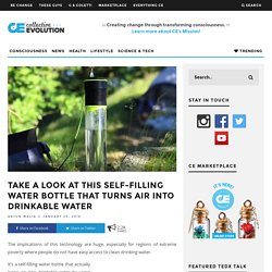 Take A Look At This Self-Filling Water Bottle That Turns Air Into Drinkable Water