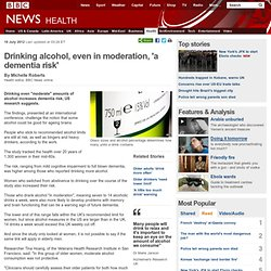 Drinking alcohol, even in moderation, 'a dementia risk'