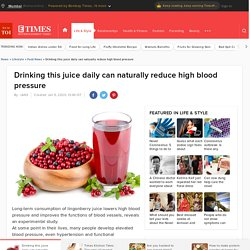 Drinking this juice daily can naturally reduce high blood pressure