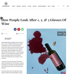 Drinking Wine Portraits - Marcos Alberti 3 Glasses