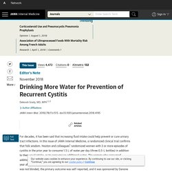 Drinking More Water for Prevention of Recurrent Cystitis.