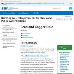 Drinking Water Requirements for States and Public Water Systems