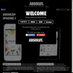 Drinkspiration - Absolut Drinks