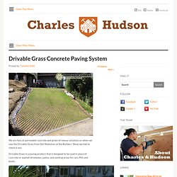 Drivable Grass Concrete Paving System