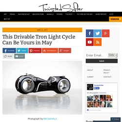 This Drivable Tron Light Cycle Can Be Yours in May