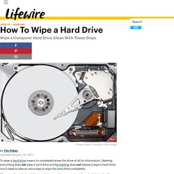 How To Wipe a Hard Drive (Permanently Erase Everything)