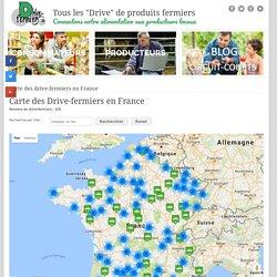Tous les drive de produits fermiers. Carte des drive-fermiers en France - Tous les drive de produits fermiers.