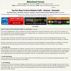 Top Five Ways To Drive Website Traffic