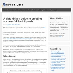 A data-driven guide to creating successful Reddit posts