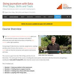 Data Driven Journalism Course (MOOC) - Doing Journalism with Data
