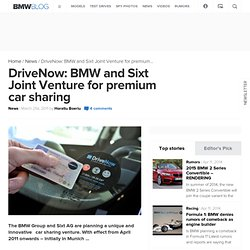 DriveNow: BMW / Sixt Joint Venture - car sharing