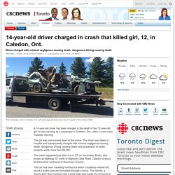 14-year-old driver charged in crash that killed girl, 12, in Caledon, Ont. - Toronto