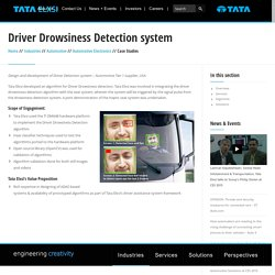 Tata Elxsi - Driver Drowsiness Detection system