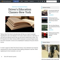 Driver's Education Classes-New York