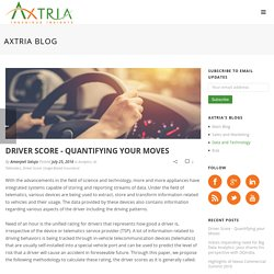 Driver Score - Quantifying your Moves