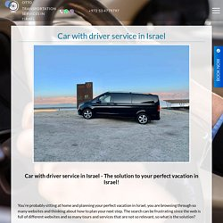 Car with driver service in Israel