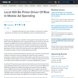 Local Will Be Prime Driver Of Rise In Mobile Ad Spending | mocoNews