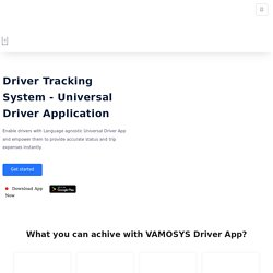 Get #1 Driver Tracking & Monitoring App Now