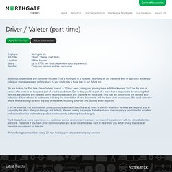 Driver / Valeter (part time) Job Vacancy - Milton Keynes
