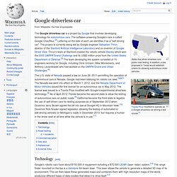 Google driverless car - Wikipedia, the free encyclopedia - Nightly