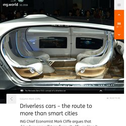 Driverless cars – the route to more than smart cities