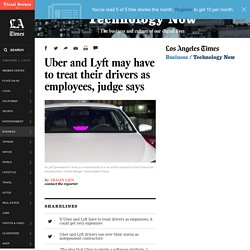 Uber and Lyft drivers could be categorized as employees, judge says