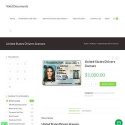 United States Drivers licenses - Valid Documents