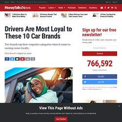 Drivers Are Most Loyal to These 10 Car Brands