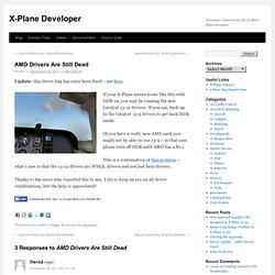 AMD Drivers Are Still Dead