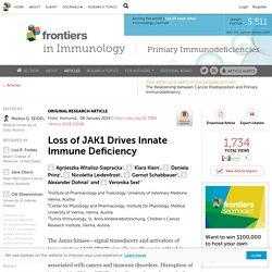 Loss of JAK1 Drives Innate Immune Deficiency