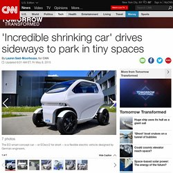 'Crab' car drives sideways and parks in tiny spaces