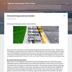 Driveway Drainage system and solution
