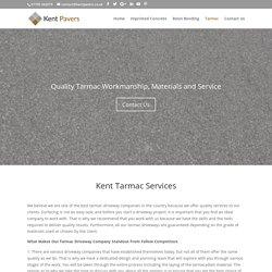 Tarmac Kent - Driveway Surfacing & Resurfacing