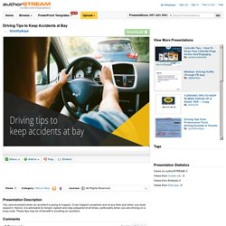 Driving Tips to Keep Accidents at Bay