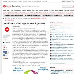 Social Media - Driving Customer Experience