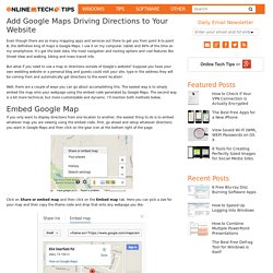 Add Google Maps Driving Directions to Your Website