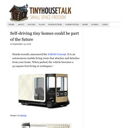 Self-driving tiny homes could be part of the future