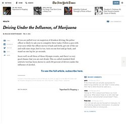 Driving Under the Influence, of Marijuana