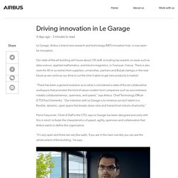 Driving innovation in Le Garage - Airbus