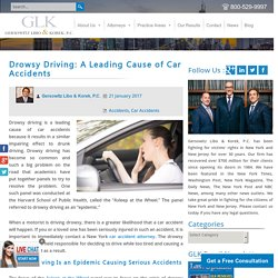 Drowsy Driving - A Leading Cause of Car Accidents