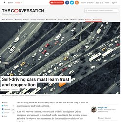 Trust: Why Self-Driving Cars Need it Just as Much as We Do