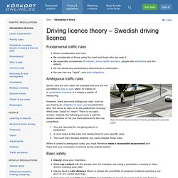 Free driving licence theory online (Sweden)