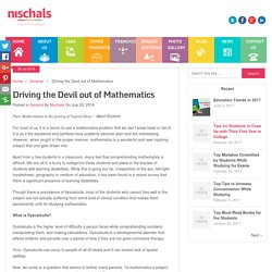 Driving the Devil out of Mathematics - Nischal's Blog