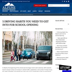 5 Driving Habits You Need to Get into for School Opening