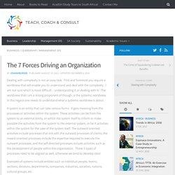 The 7 Forces Driving an Organization – Teach, Coach & Consult