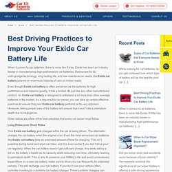 Best Driving Practices to Improve Your Exide Car Battery Life · Carfit