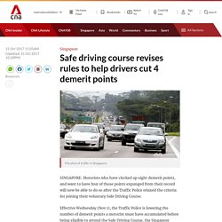 Safe driving course revises rules to help drivers cut 4 demerit points