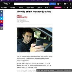 'Driving selfie' menace growing