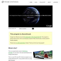 3D Driving Simulator on Google Earth