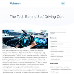 The Tech Behind Self-Driving Cars - Self Driving Technology - DigiMantra Labs